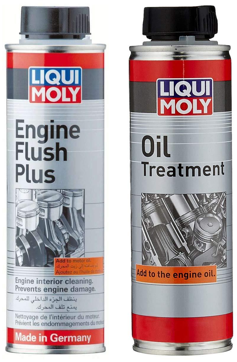 Liqui Moly Engine Oil Flush (200 ml) and Liqui Moly LMOA Engine Oil Treatment (200 ml) product image