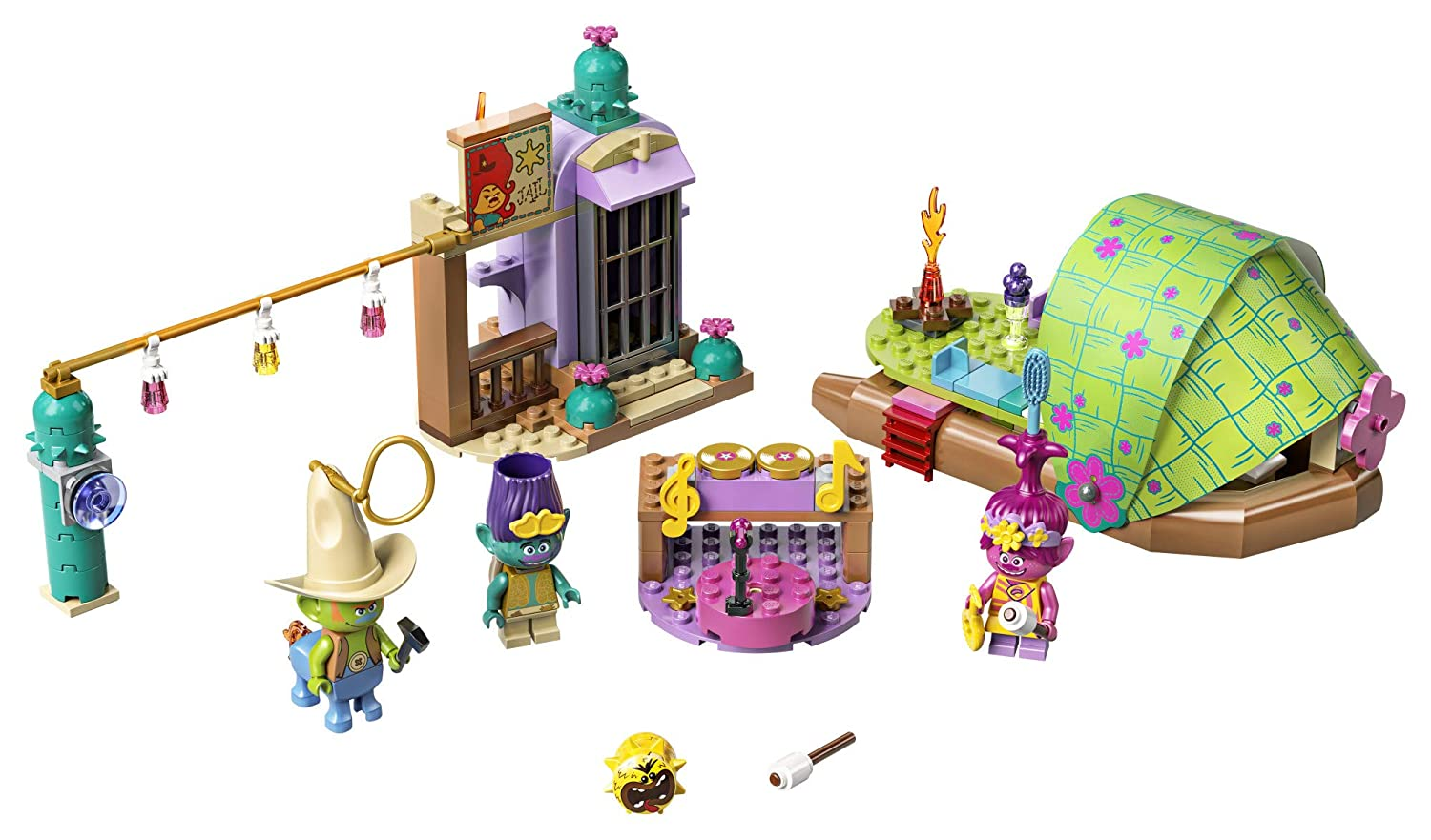 Great Trolls Gift for Creative Kids New 2020 LEGO Trolls World Tour Lonesome Flats Raft Adventure 41253 Kids Building Kit 159 Pieces