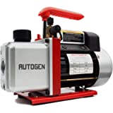 AUTOGEN Single-Stage Rotary Vane Vacuum Pump 4CFM 5 Pa 1/3HP for Air Conditioner Refrigerant HVAC Air Tool R410a 1/4…