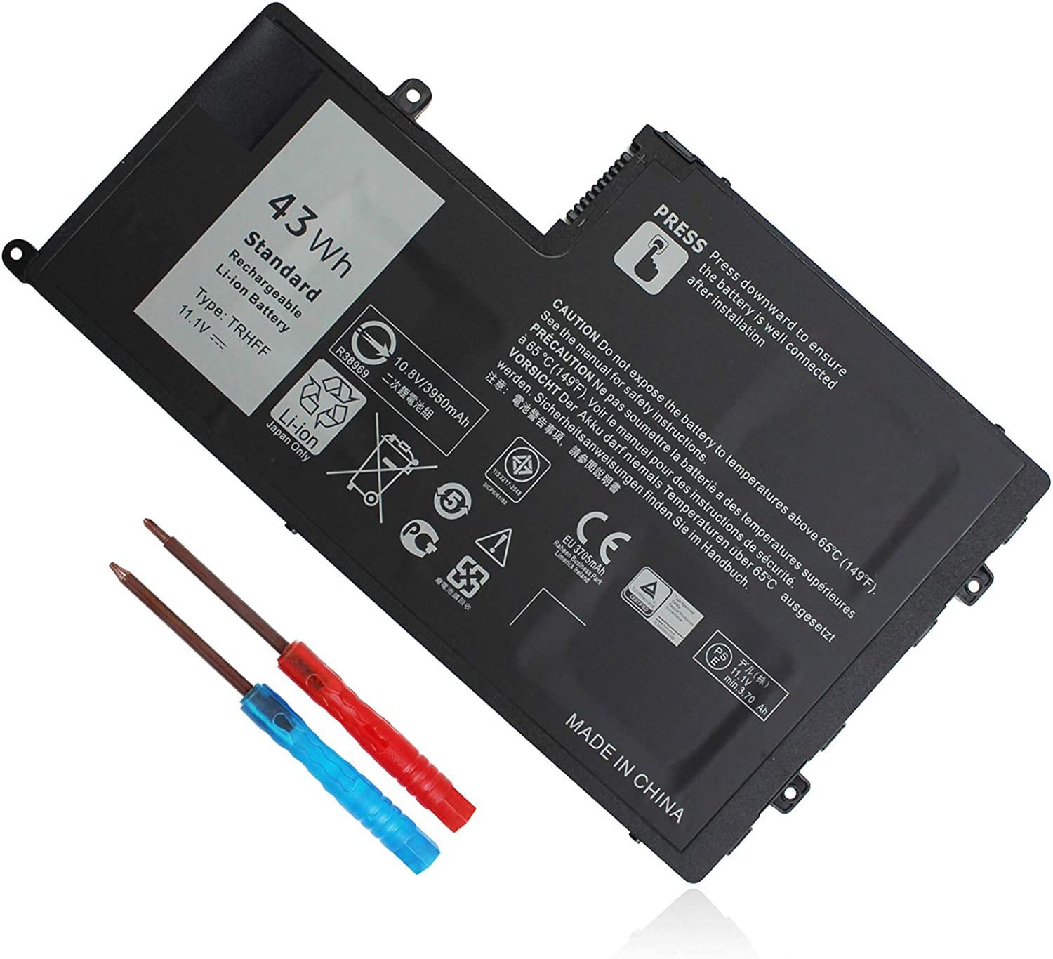 11.1V 43Wh TRHFF Laptop Battery Compatible with Dell Inspiron 15 5547 5548 5557 5542 14 5447 5442 5445 5457 5448 5543 5545 Latitude 3450 3550 fit 0PD19 7P3X9 1V2F6 P39F 0DFVYN 01V2F6 5MD4V 86JK8 DFVYN