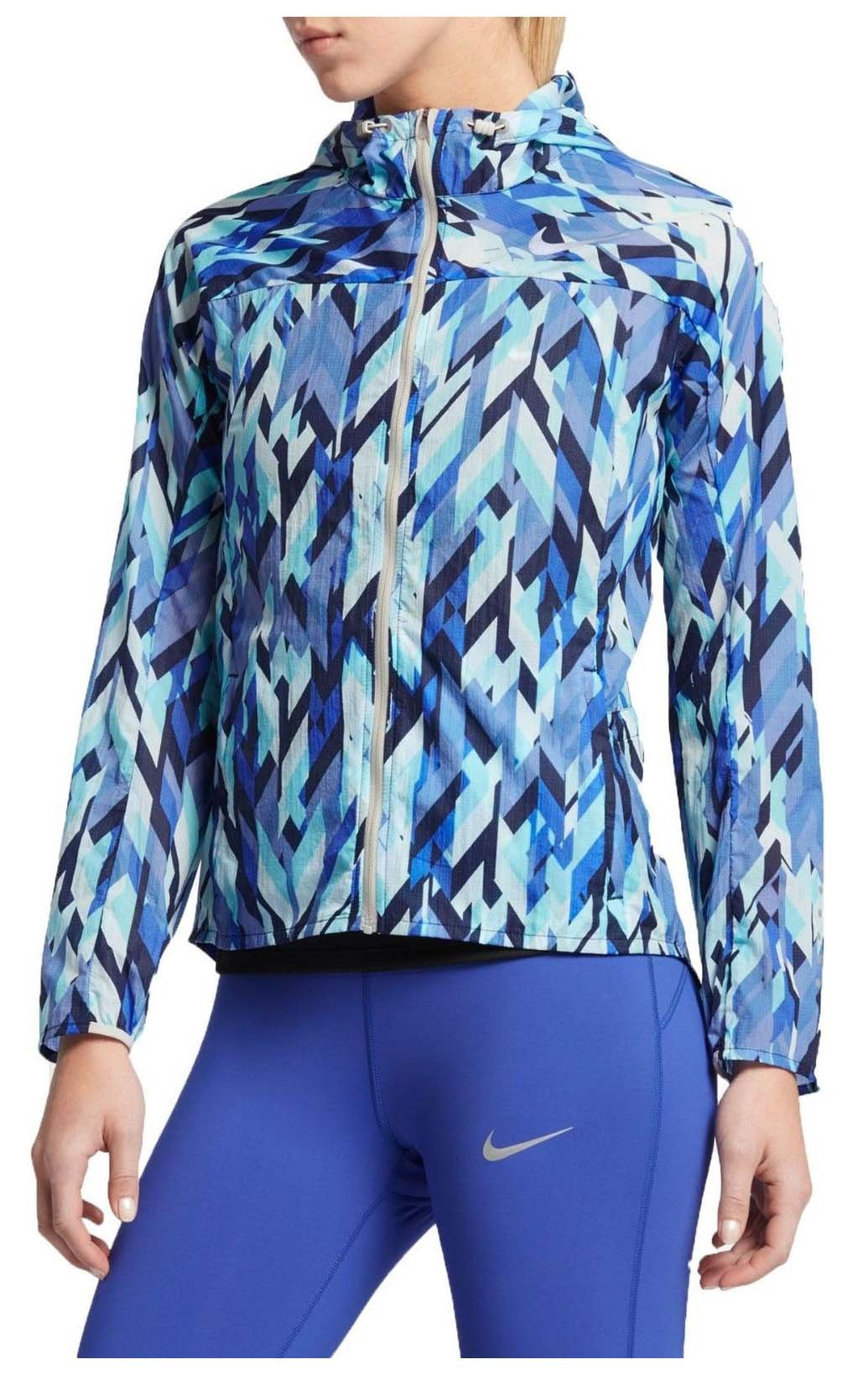 NIKE Women's Impossibly Light Running Jacket-Binary Blue-Medium