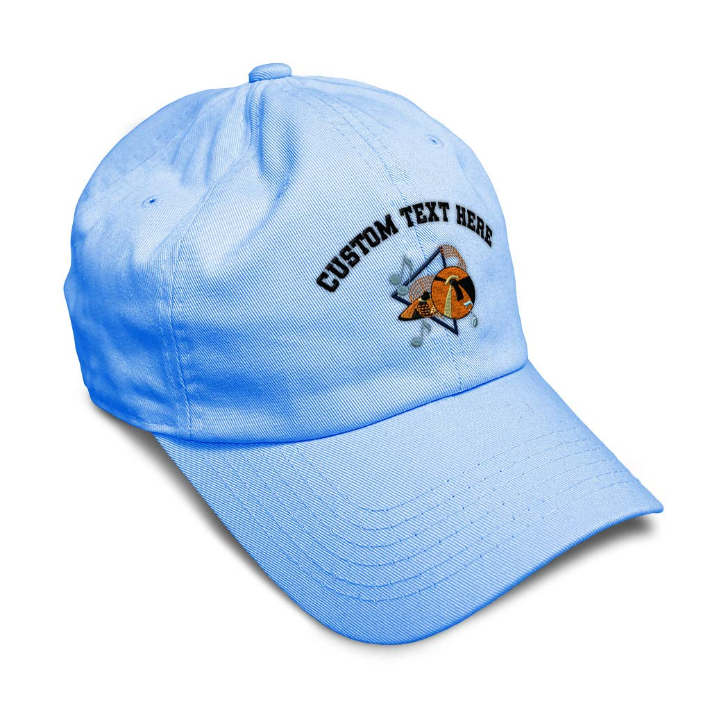 Custom Soft Baseball Cap Cymbals Style A Embroidery Dad Hats for Men /& Women