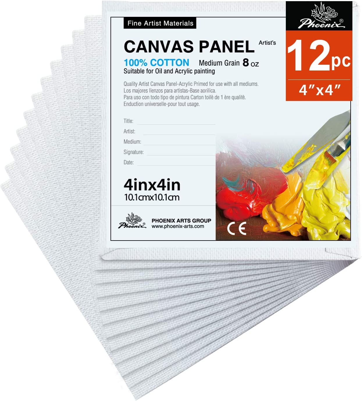 Artist Boards for P 8 inch x 10 Super Value Artlicious Canvas Panels 12 Pack
