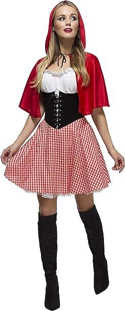 SmiffyS 38490M Disfraz De Caperucita Roja De Fever Con Vestido Y ...