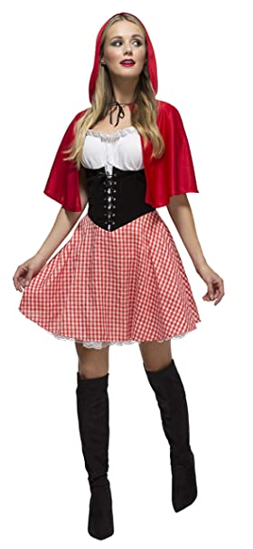 Smiffys Smiffys- Disfraz Fever de Caperucita Roja, con Vestido ...