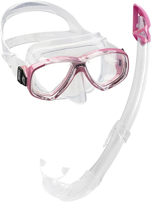 309 opinioni per Cressi Perla Mare- Combo Set Maschera Sub Perla e Snorkel Mexico, Rosa
