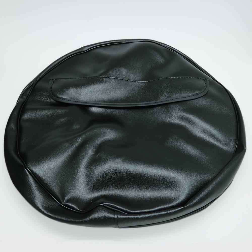 Cuppini スペアタイヤカバー 黒色 3.00-10用 Vespa B06XWNYMLW