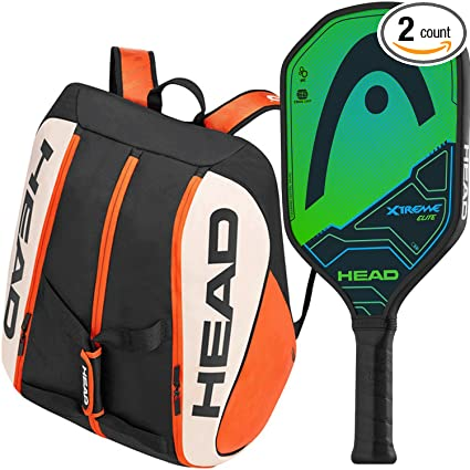 Head Xtreme Elite Composite Green/Black Pickleball Paddle Bundled with a Head Tour Team Supercombi