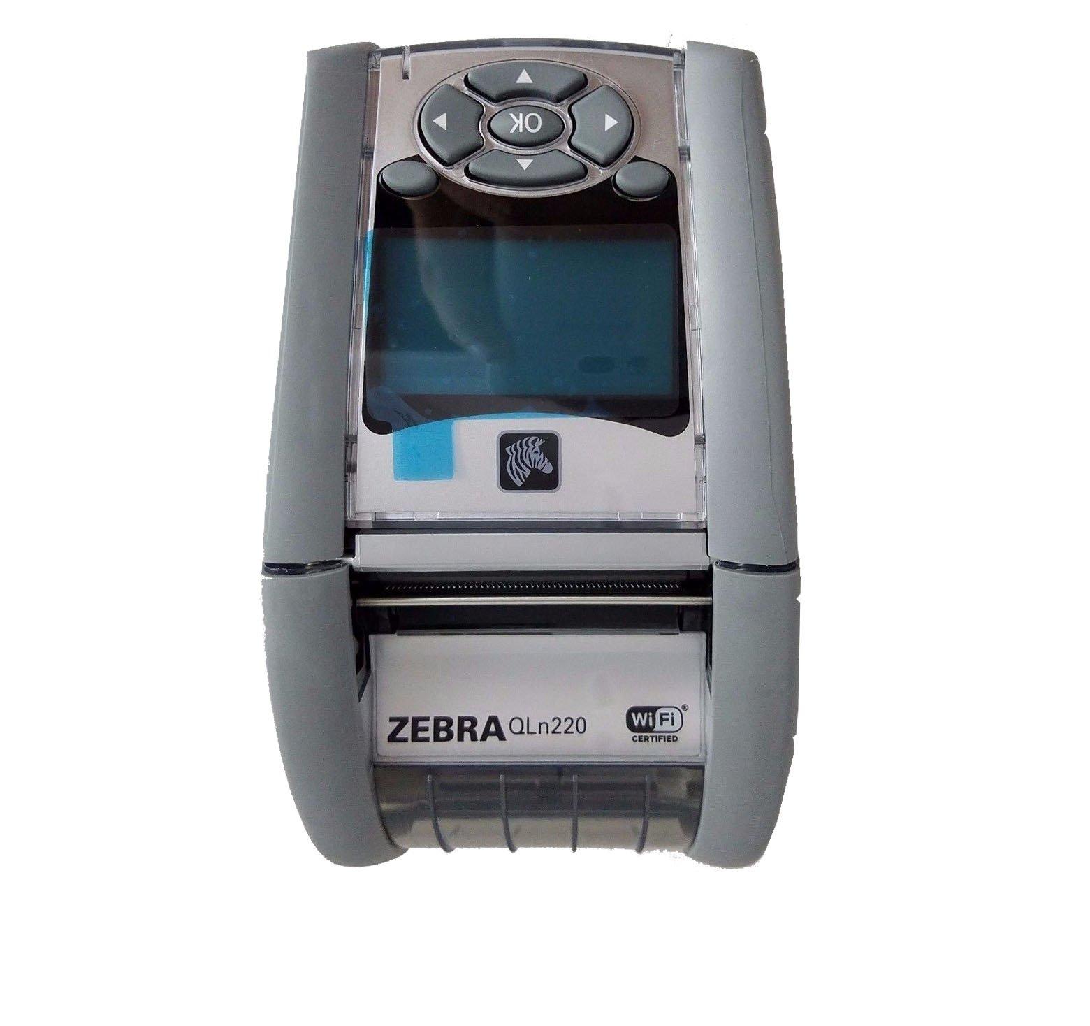 Zebra QN2-AUNA0M00-00 QLN 220 Direct Thermal Mobile Label Printer, Bluetooth and Wi-Fi, Monochrome, 203 dpi, 2.75'' H x 3.5'' W x 6.5'' D