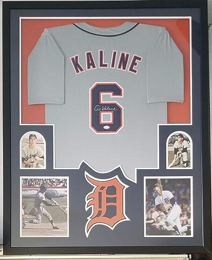 wholesale dealer 1b73f 35dd4 Al Kaline Autographed Signed Jersey Framed Detroit Tigers ...