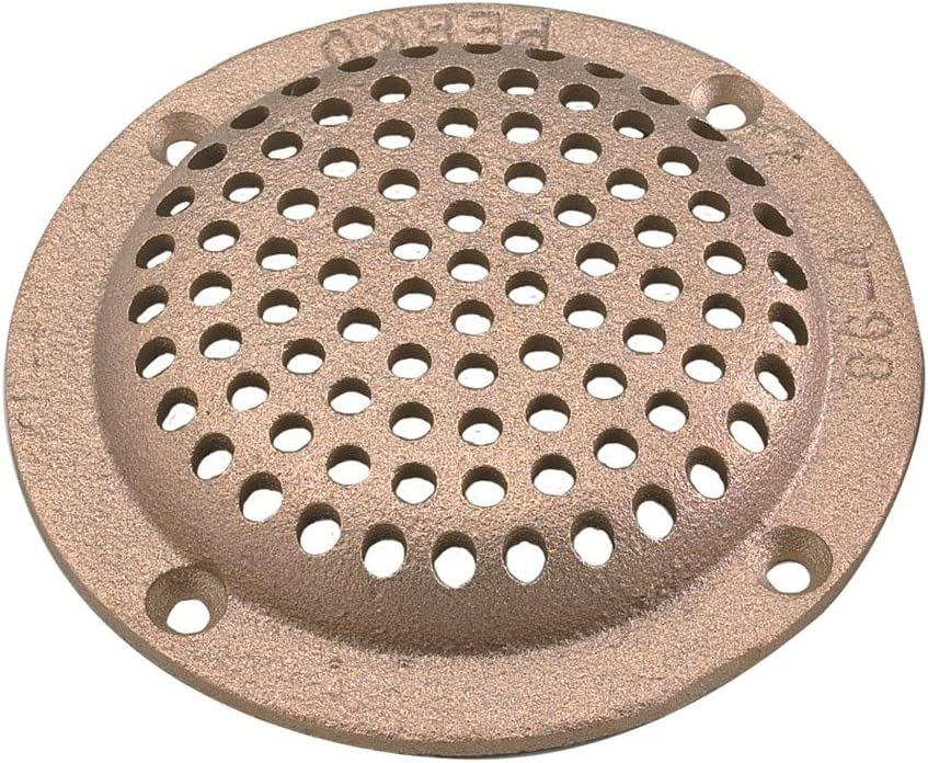 """Perko 0086Dp4Plb 4/"""" Round Bronze Strainer Made In The Usa"""