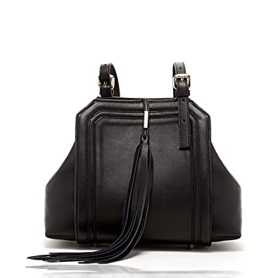 d6408630196 Black Leather Satchel Bags For Women Unique Bag Work Tote With Big Tassels  Over The Shoulder
