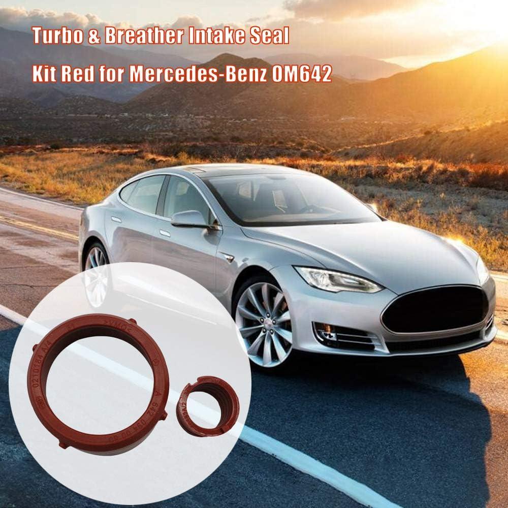 Rantoloys Kit de Sello de admisi/ón de Turbo y respiradero Rojo para Mercedes-Benz OM642