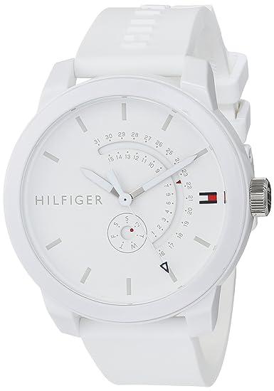 b61eb0fa3b53 Tommy Hilfiger Reloj Analógico para Hombre de Cuarzo con Correa en Silicona  1791481  Amazon.es  Relojes