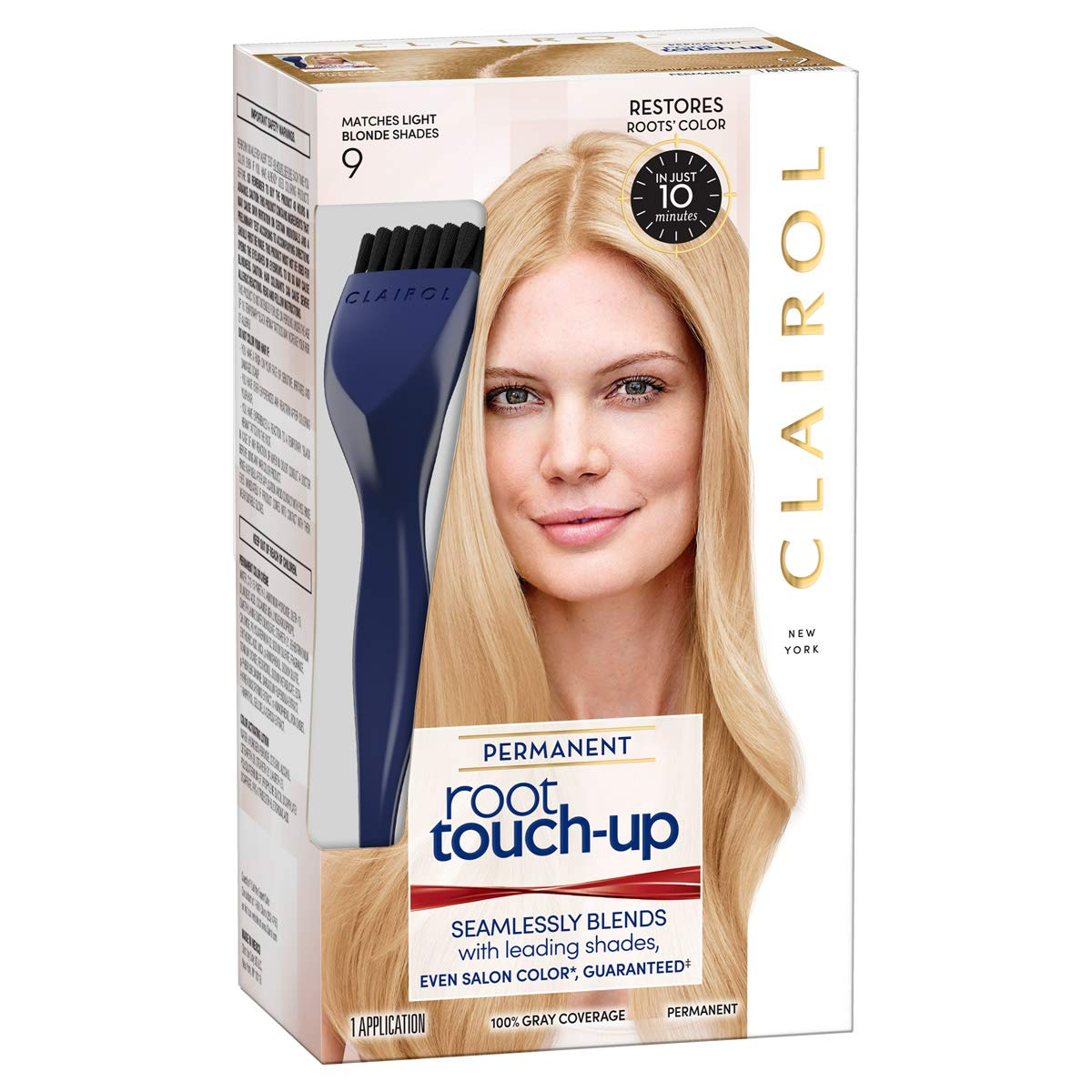 fb116f9ea5 Amazon.com: Clairol Nice 'N Easy Permanent Hair Color Root Touch-Up Kit, 9  Matches Light Blonde Shades (Pack of 2) (Packaging May Vary): Beauty
