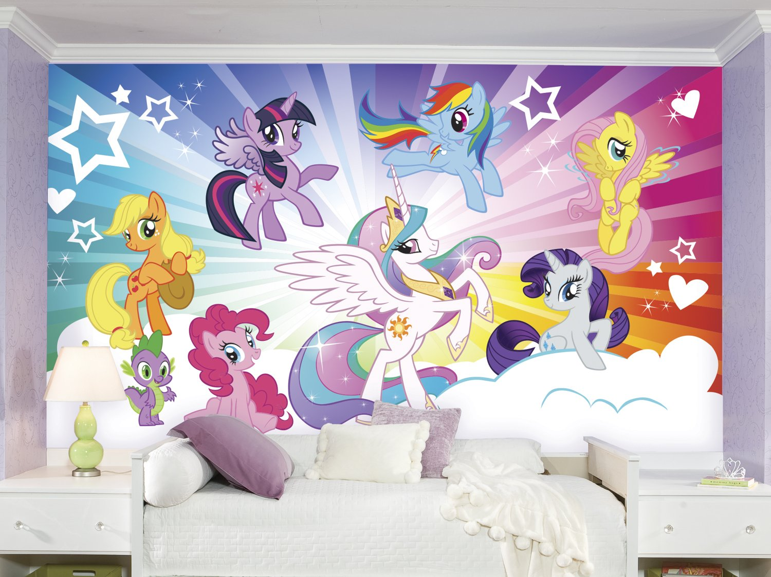 RoomMates JL1335M My Little Pony Cloud Water Activated Removable Wallpaper Mural - 10.5 ft. x 6 ft.