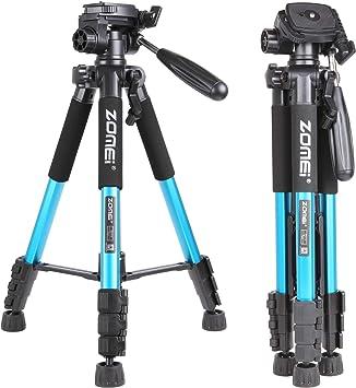 New Tripod Q111 Professional Portable Travel Aluminum Camera Tripod Accessory Bracket and Canon SLR Camera Multi-Function Head,Red