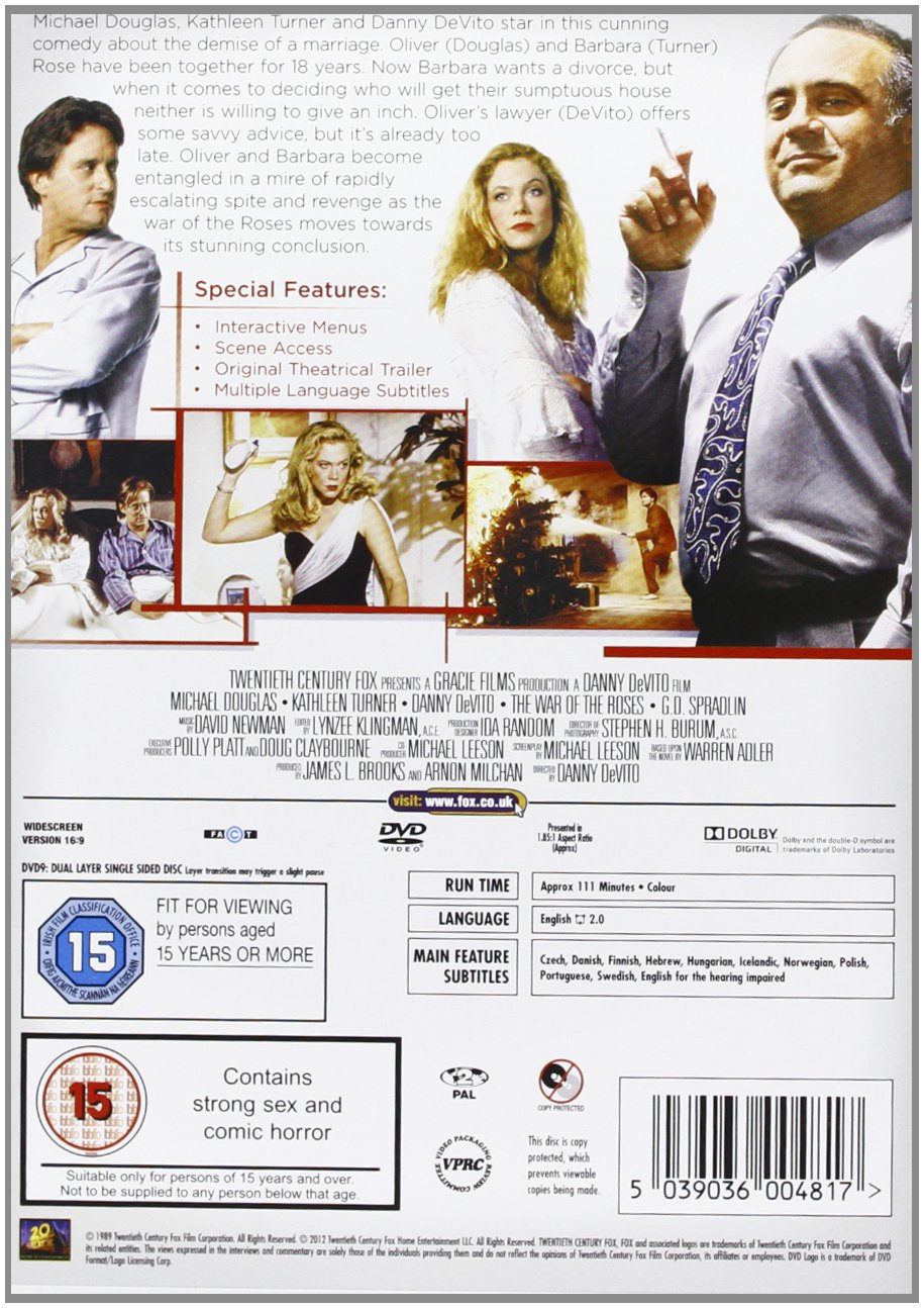 Amazon.com: The War of the Roses: Michael Douglas, Kathleen Turner ...