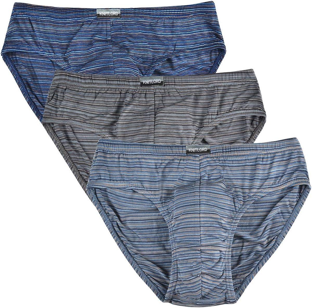 Men's Bamboo Underwear Soft Lightweight Mid/Low Rise Briefs 3 Pack