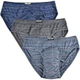 Knitlord Men's Bamboo Underwear Soft Lightweight Low Rise Briefs 3 Pack