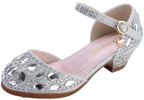 Amazon Miaoshop Girls Pageant Princess Shoes Heels Kids Formal