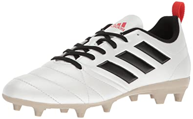 adidas Women s ACE 17.4 FG W Soccer Shoe White Black Core Red S 5 b7f5d37046