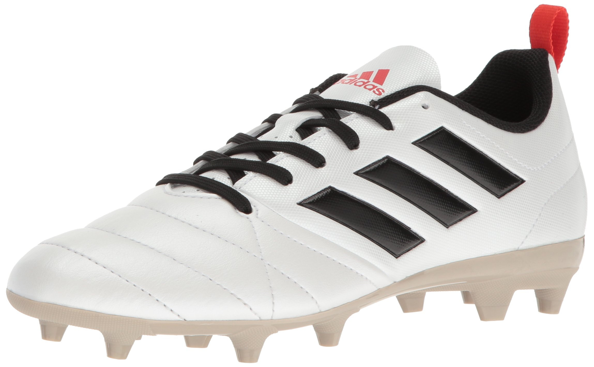 adidas Women's Ace 17.4 FG W Soccer Shoe, White/Black/Core Red S, 7.5 M US