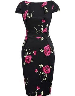 Navy Pretty Floral Bodycon Evening Stretch Party Midi Wiggle Pencil Dress £65