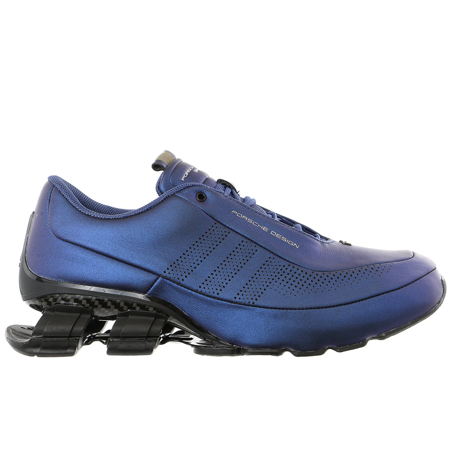 Porsche Design Adidas Bounce S4 Leather Driving Fashion Running Sneaker - Electric Blue - Mens - 10.5