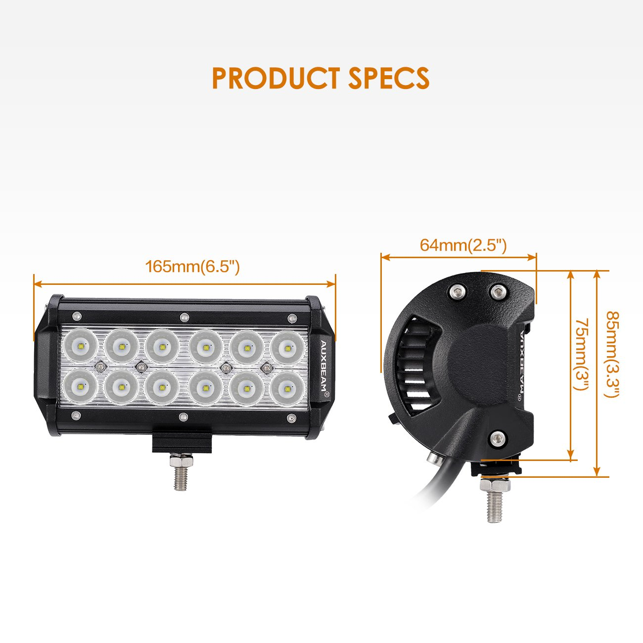 RVs Trailers Auxbeam LED Light Bar Rocker Switch with Switching Lines for 12 // 24V Cars Buses Motorcycles Boats
