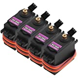 MG996R 55g Metal Gear Torque Digital Servo for Futaba JR RC Helicopter Car Boat Robot(Pack of 4) By IFANCY-TECH