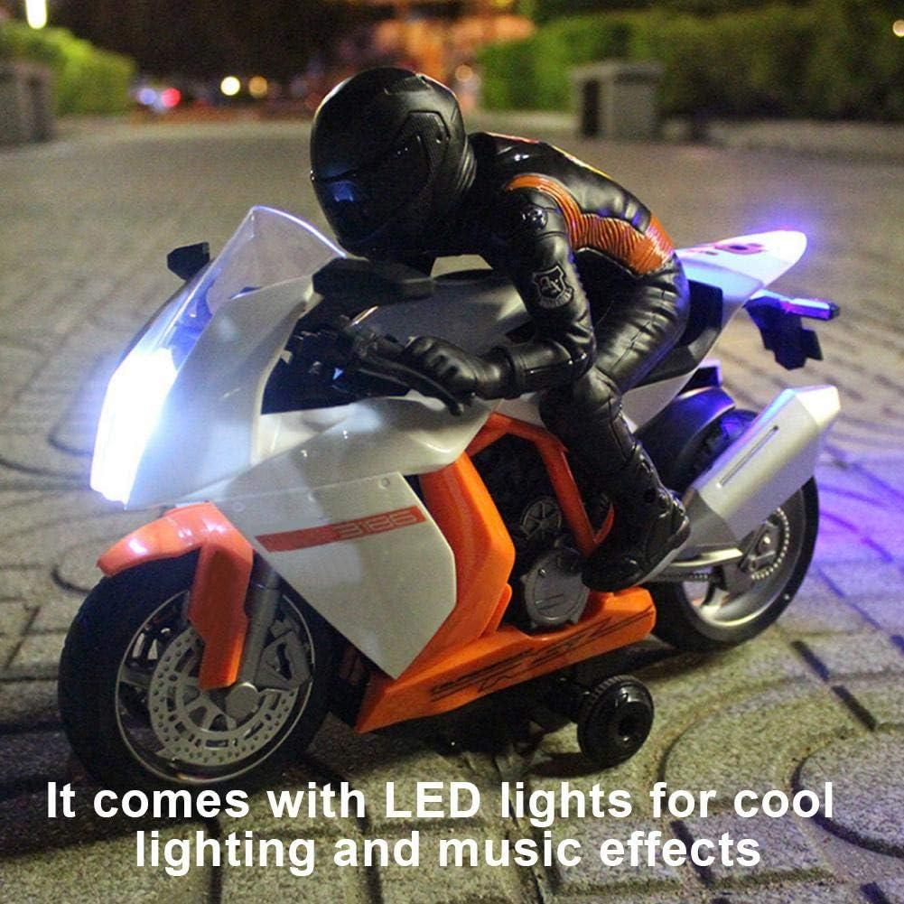 V/élo de Moteur Electrique Mod/èle /à T/él/écommande de Moto denfants Joue avec la Lumi/ère et Le Son Moto de RC
