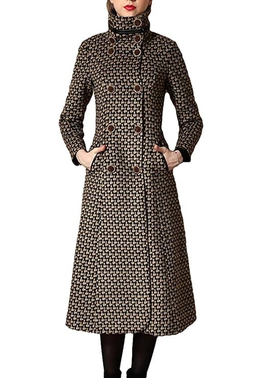 PLAER de la mujer versión coreana Slim largo Trench Abrigo Elegante Abrigo de cachemir: Amazon.es: Ropa y accesorios
