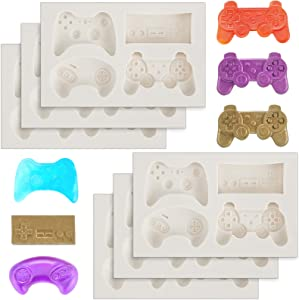 6 Pieces Game Silicone Molds Video Game Candy Molds for Video Game Birthday Party Cake Cupcake Decoration