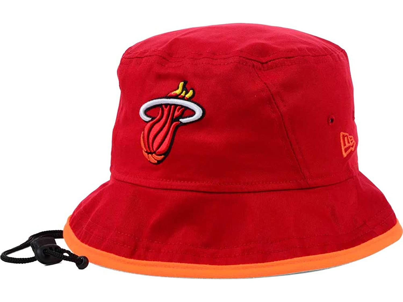 Miami Heat NBA New Era Tipped Hardwood ClassicsバケットBoonieレッド/オレンジ帽子 Large  B077GBRGTC