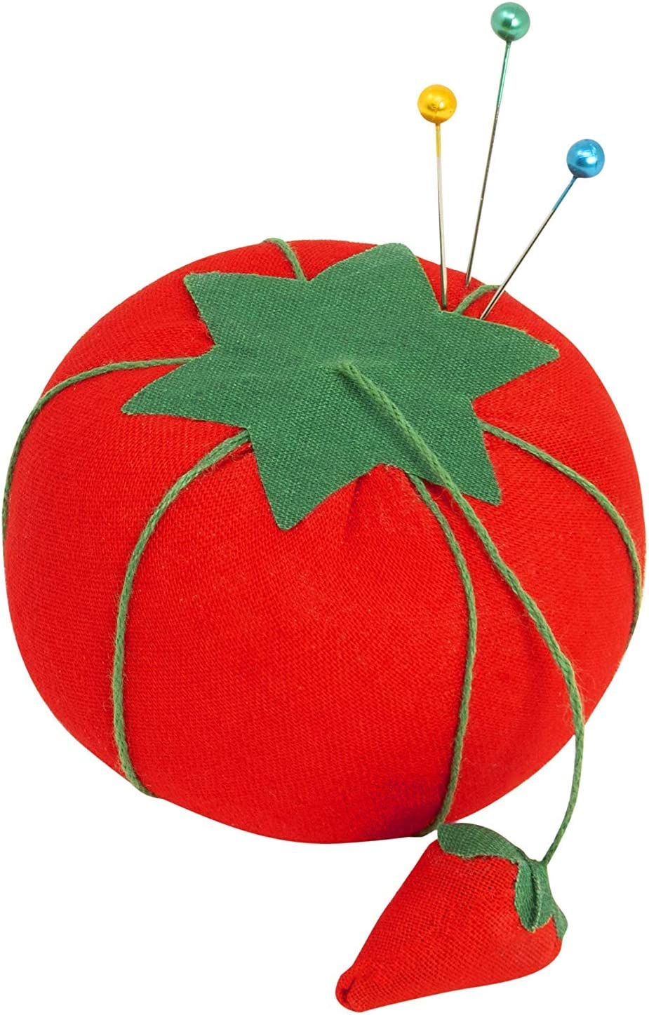 KORENJUL 1Pc Cute Tomato Shaped Needle Pin Cushion DIY Handcraft Tool for Cross Stitch Sewing Home Sewing Needle Pin Cushion Pillow Pincushion 7cm//2.76in