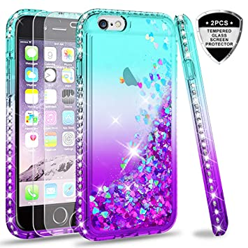 leyi case for iphone 6 iphone 6s with tempered glass amazon co uk