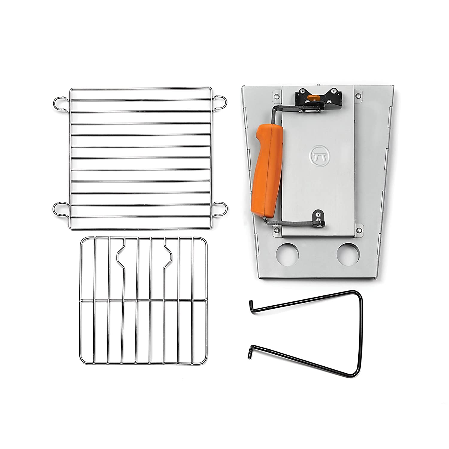 Outset 76356 Collapsible Camping Grill and Chimney Starter