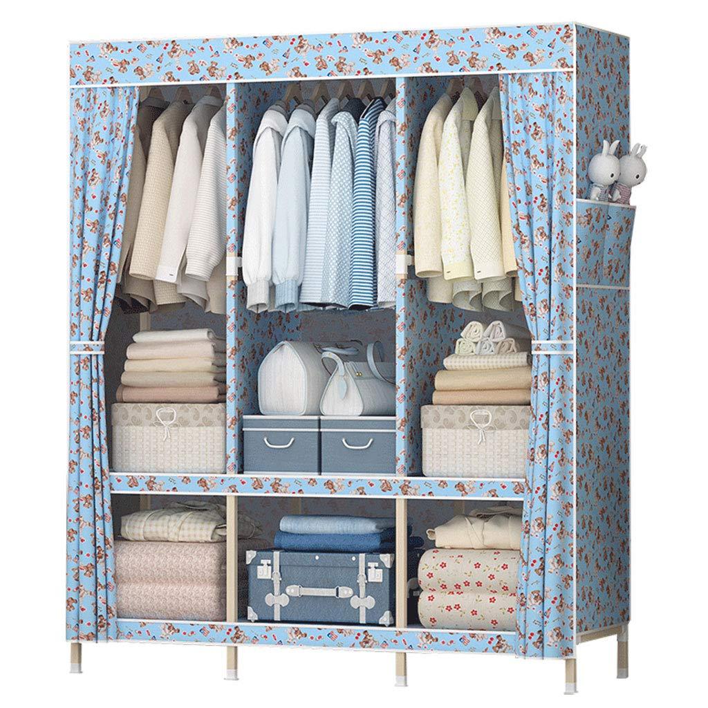 A Simple wardrobe Simple wardrobe Solid Wood Assembly Wardrobe (color   A)