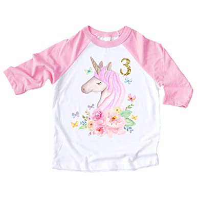 Amazon Unicorn 3rd Birthday Outfit Baby Girl Clothing