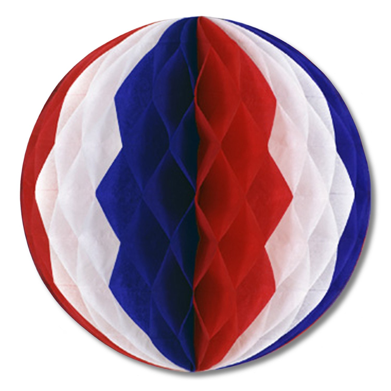 Beistle 55614-RWB 12-Pack Tissue Balls, 14-Inch, Red/White/Blue