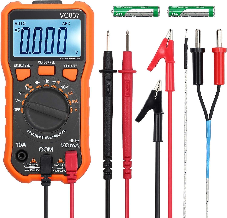 DM6266 2000 cuentas pinza amperim/étrica AC Digital//DC Resistencia Prueba de continuidad