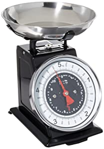Starfrit 080211-003-0000 Retro Mechanical Kitchen Scale 8.9X 8.9X 7.7, Silver