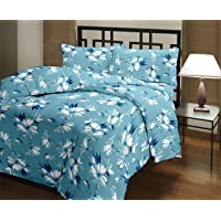 Zylish Cotton Floral Designs Reversible AC Blanket/Dohar/Quilt for Home (Single, Multi-coloured)