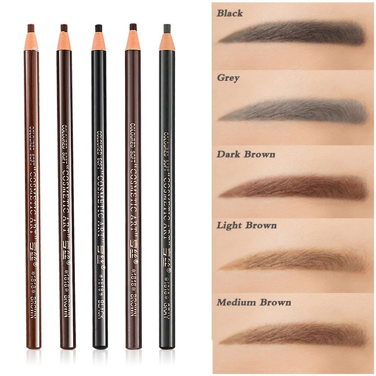 Amazon 5 Colors Set Eyebrow Pencil Drawing Eye Brow Pen Peel