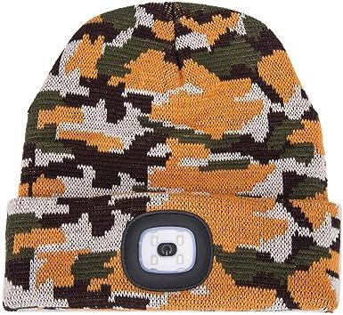 Chaud en plein air /Éclair/é Bonnet tricot/é Avec lumi/ère LED Chapeau de pull