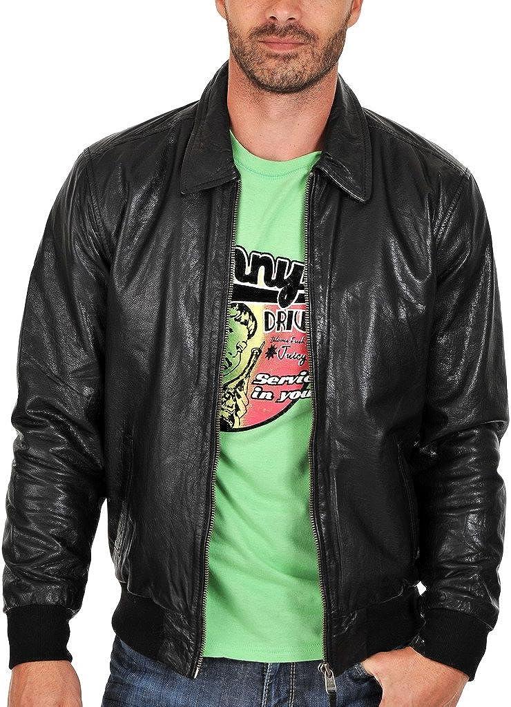 New Mens Leather Slim Fit Genuine Lambskin Biker Jackets LF114
