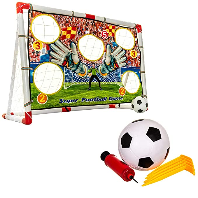 d937fda6 Hillington Super Football Goal Post Game Set Indoor Outdoor Included ...