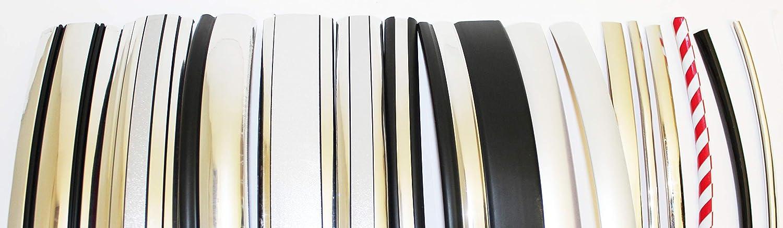 Zierleiste Schutzleisten Sto/ßstangenschutz Styling Leisten T/ürkantenschoner Selbstklebend Flexibel Leisten Gr/ö/ße Farbe 12mm - CHROM, 1000cm 10m Modelle nach Wahl