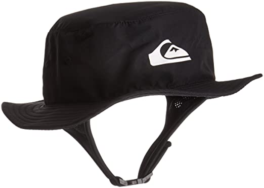 261489fa Quiksilver Men's Bushmaster Surf Sun Protection Bucket Hat, Black, L ...